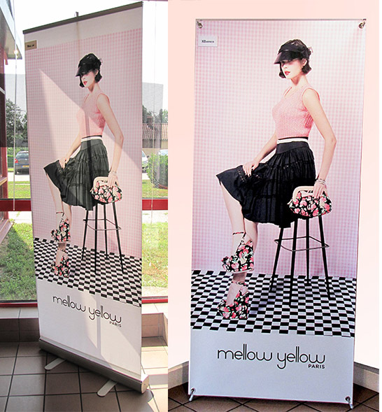 Kakemono roll up x banner