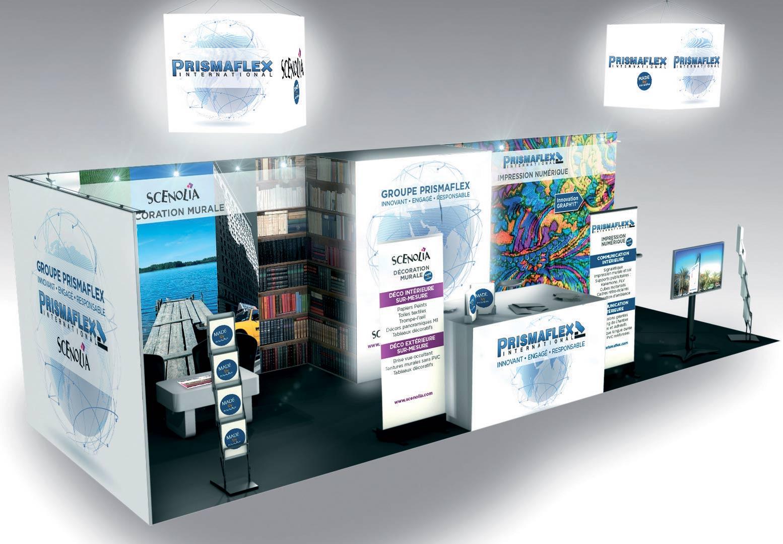 Bien-aimé PLV stand. Décoration et aménagement de Stand pour salon professionnel KH46