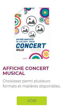 affiche concert de musique