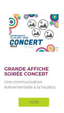 affiche xxl pour concert