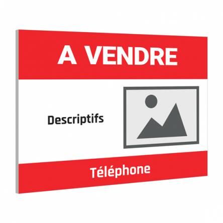 Pancarte À VENDRE agence immobilière