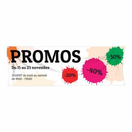 Banderole pour promotions