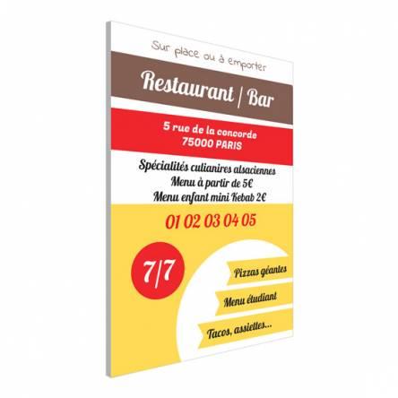 Pancarte pour restaurant
