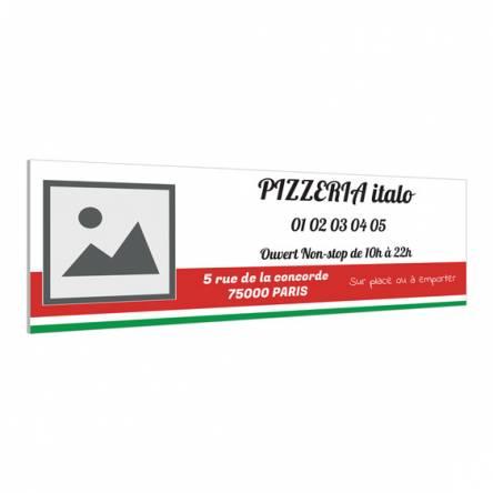 Panneau pour pizzeria