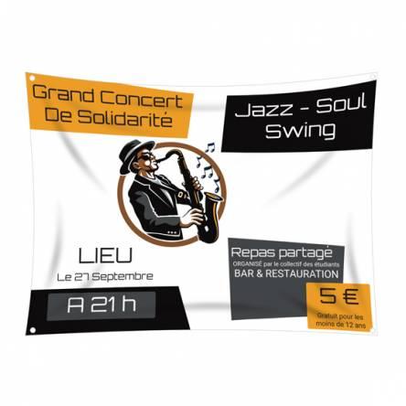 Bâche pour concert de jazz