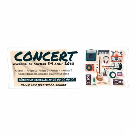 Banderole concert musical