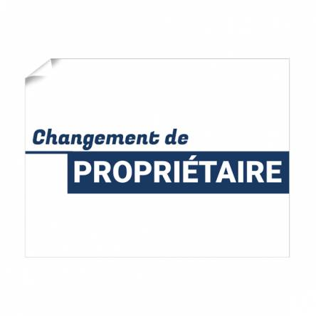 Modèle Affiche « Changement de Propriétaire » - Impression pour les pro