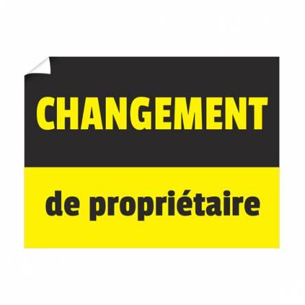 Affiche changement de propriétaire