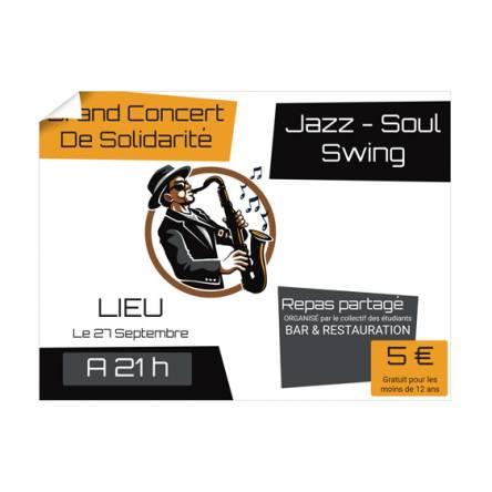 Grande Affiche Concert Jazz