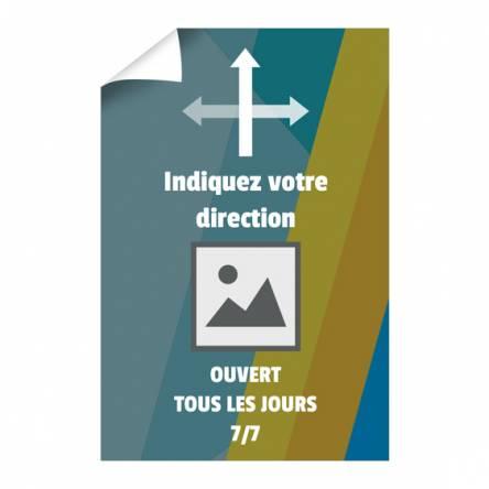 Affiche de direction