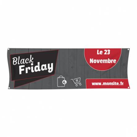 Banderole pour le Black Friday