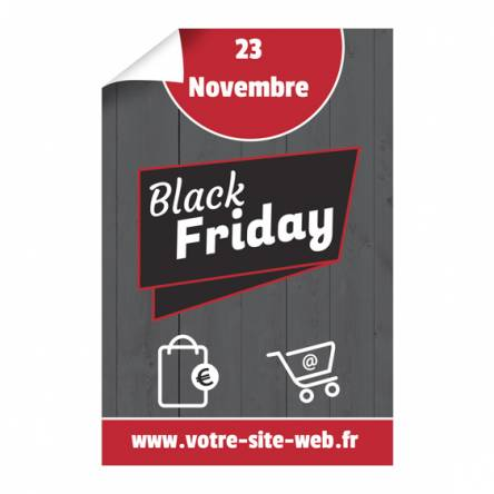 Affiche verticale Black Friday
