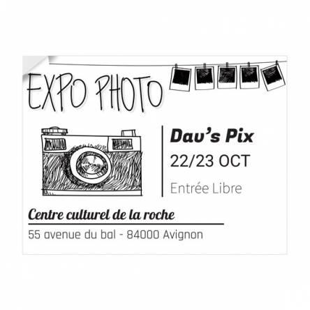 Adhésif Exposition Photo