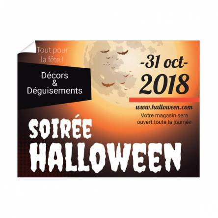 Affiche Halloween événementielle