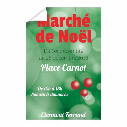 Affiche Marché de Noël verticale