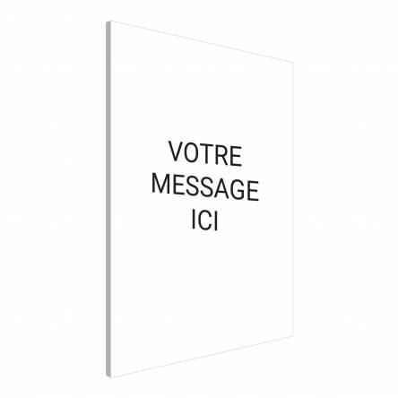 Pancarte verticale texte