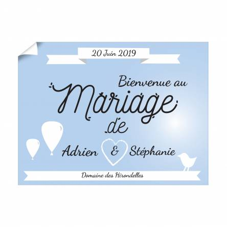 Affiche horizontale pour Mariage