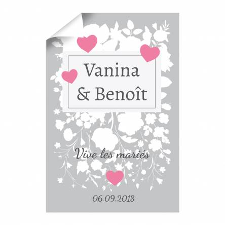 Affiche verticale pour Mariage