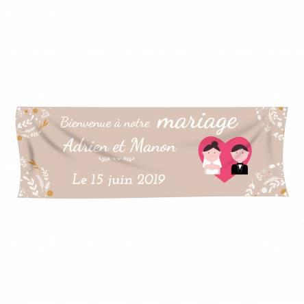 Banderole pour mariage