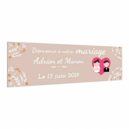 Panneau pour Mariage
