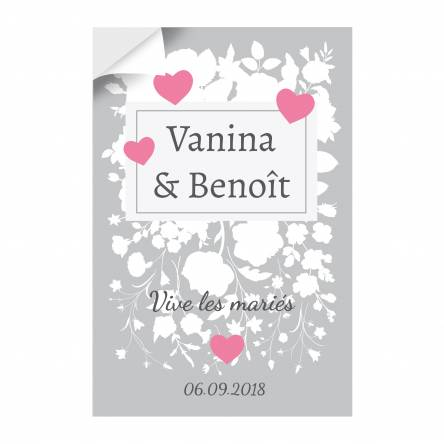 Autocollant vertical Mariage