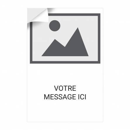 Adhésif vertical Logo Texte