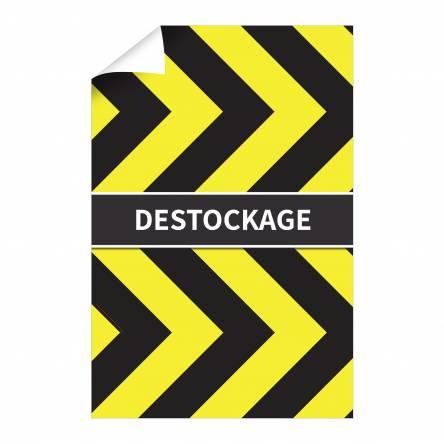 Affiche Destockage verticale