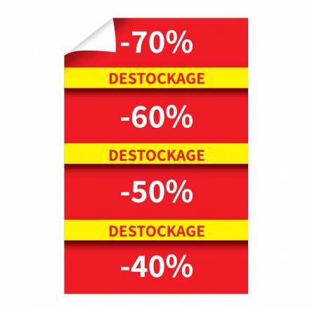 Affiche verticale Destockage