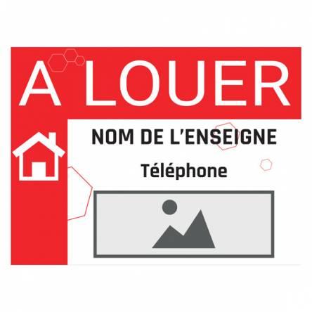 Pancarte À LOUER pour agence immo