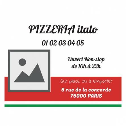 bâche pour pizzeria