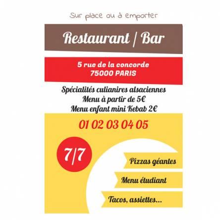 pancarte restaurant