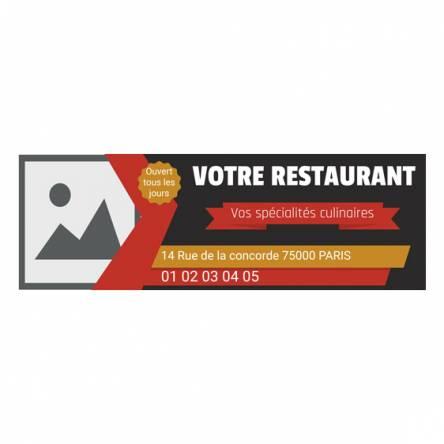 banderole bar resuarant