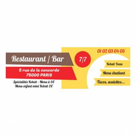 panneau originale pour restaurant