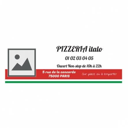 panneau solide pizzeria