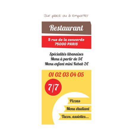Roll up pour restaurant