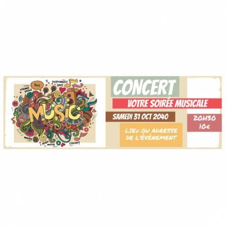 Banderole pour concert