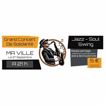 Banderole concert jazz