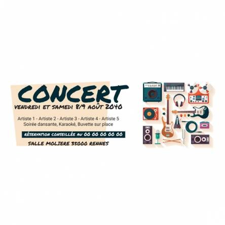 banderole concert design