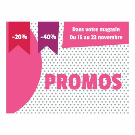 Affiche horizontale pour promos