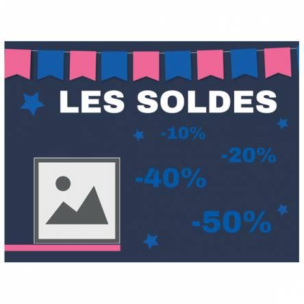 affiche pour soldes magasin