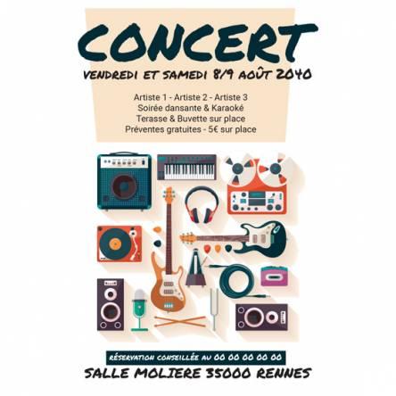 Affiche spéciale Concert