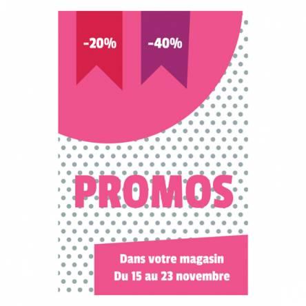 adhésif promotions magasin