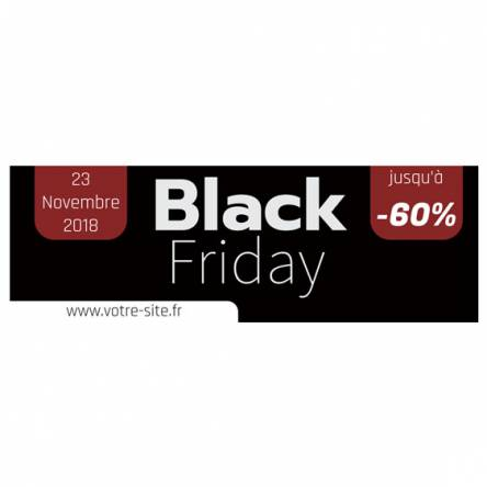 Banderole spéciale Black Friday