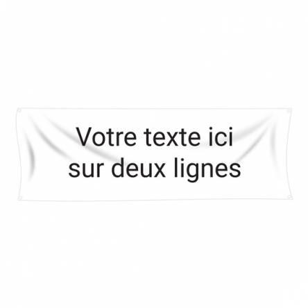 Banderole texte personnalisé