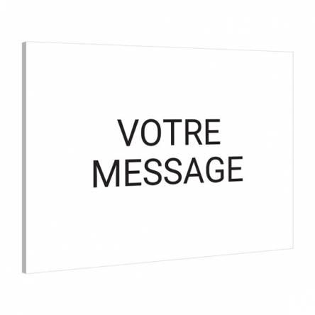 pancarte rigide texte