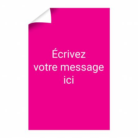 Affiche texte verticale à personnaliser