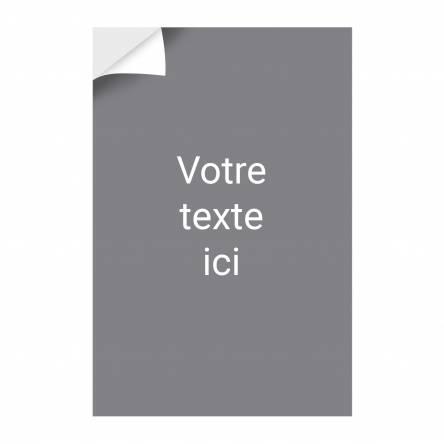 Adhésif vertical texte éditable