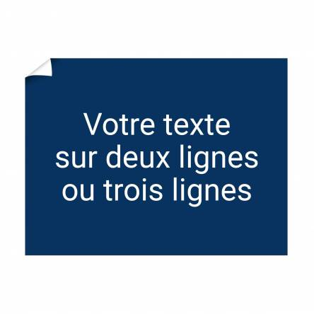 Affiche texte à personnaliser