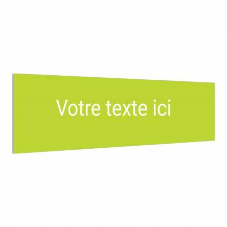 Panneau horizontal texte personnalisable