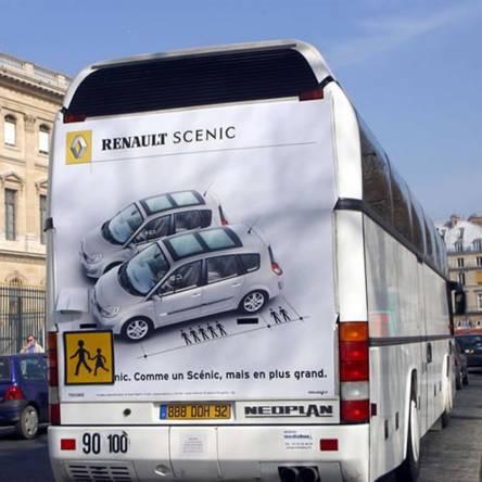 marquage publicitaire bus